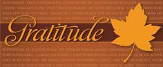 Happy Thanksgiving! Live your gratitude daily!
