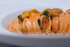 House-made Sea Urchin Pasta, Fennel, Garlic, and Creamy Uni Sauce  Chef Didier Elena of Adour - New York, NY