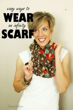 Easy ways to Wear an Infinity Scarf - Brassy Apple