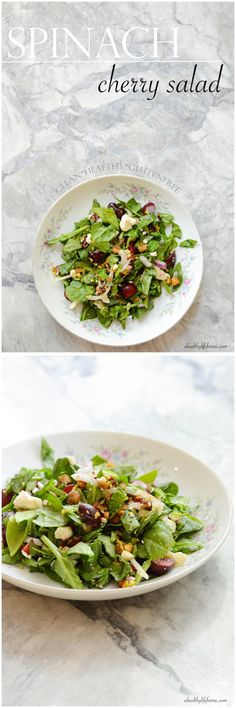 Spinach Cherry Salad a healthy gluten free recipe - A Healthy Life For Me