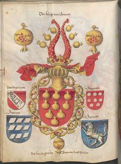 Grünenberg, Konrad: Das Wappenbuch Conrads von Grünenberg, Ritters und Bürgers zu Constanz um 1480 Cgm 145 Folio 53