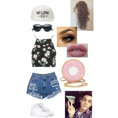 Date with Grayson Dolan *IMAGINE IN DESCRIPTION* by itsharliekaye on Polyvore featuring polyvore, fashion, style, Topshop, NIKE and Dolan