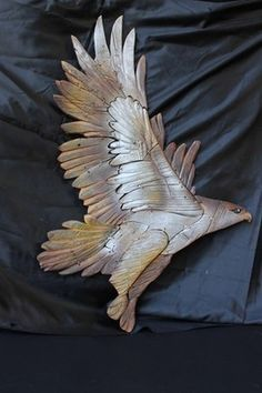 """""""Eagle"""" sculpture in wood by Artea Workshop 75x110h Realized and painted by hand. 100% Italian Artisans for you... See more in Artea link: http://www.mirabiliashop.com/artea.htm Direct contact: info@mirabiliashop.com Fabrizio"""
