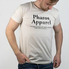 Slim fit T-shirt with Established by Explorers for Explorers graphics  Made in Slovakia Slim fit 100% organic cotton Soft-touch jersey Model wears Medium size and is 184cm tall Limited Collection, Cream White, Preppy, Organic Cotton, How To Make, How To Wear, Graphics, Slim, Touch
