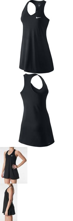 Skirts Skorts and Dresses 70901: Nike Women S Summer Pure Black Dri-Fit Tennis Dress 728736 010 -> BUY IT NOW ONLY: $34.99 on eBay!