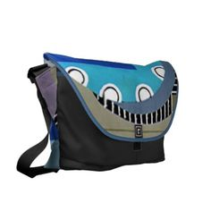 Art Deco Blue Skies Large Bag by Janz Messenger Bags
