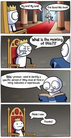 Pronoun cartoon. Loadingartist.com