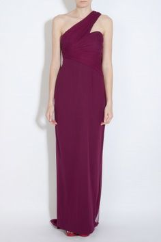 One Shoulder Chiffon Gown by NOTTE BY MARCHESA
