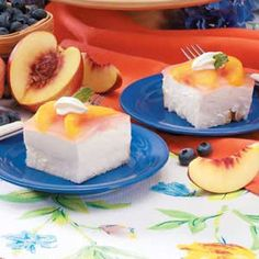Peach angel dessert!