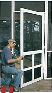 Do it yourself screened porch todays homeowner windows and doors do it yourself screened porch todays homeowner windows and doors weekend project screen it yourself porch in the news screen tight houston solutioingenieria Images
