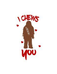 Chewbacca Valentine SVG