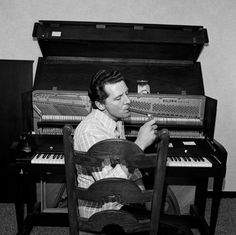 Jerry Lee Lewis, 1976. by Henry Horenstein