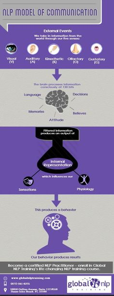 NLP model of communication described in an easy to use infographic!