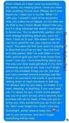 letter to him after break up