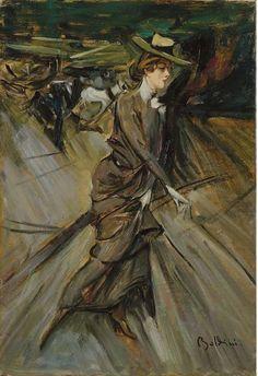 Donna a passeggio, Giovanni Boldini....