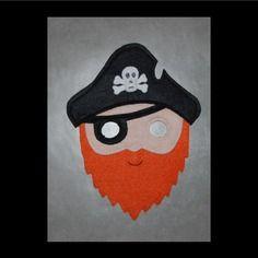 Masque en feutrine : pirate garçon