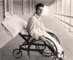Soldier from World War I in Wheelchair at Walter Reed Army Hospital.