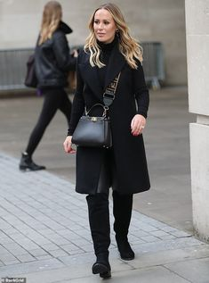 Details: She teamed the items of clothing with a pair of knee-high suede boots, dazzling d. Fendi Peekaboo Mini, Kate Wright, Next Bags, Keep It Classy, Looks Chic, Ferdinand, Fashion Lookbook, Suede Boots, Bags