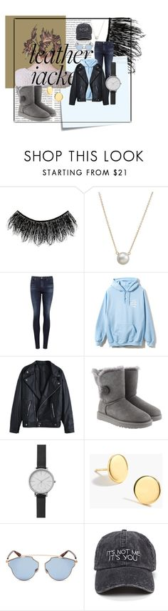 """""""Try Something New"""" by isabellarowlee ❤ liked on Polyvore featuring Illamasqua, Oris, Post-It, Dogeared, AG Adriano Goldschmied, UGG, Skagen, J.Crew and Christian Dior"""