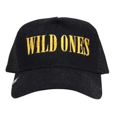 Amiri Wild Ones cotton cap (465 CAD) ❤ liked on Polyvore featuring men's fashion, men's accessories, men's hats, nero and mens caps and hats