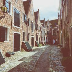 In love with all the secret alleys of Middelburg.