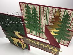 Linda Dalke: My first Z Fold card with the Santa's Sleigh Bundle from Stampin'Up!
