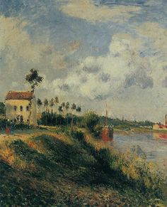 The Path from Halage, Pontoise, 1879 - Camille Pissarro