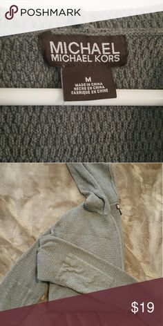 MK Elbow Patched Sweater Marked men's mendium, (I am 5'6ft tall, size M women's for reference) fits up to a large comfortably. Cute oversized fit. Soft knitted material, light cardigan. Zip up feature, rad elbow patches. No pockets. Never worn. + open to offers + Michael Kors Sweaters Cardigans