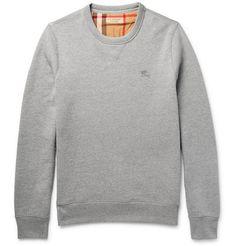 BURBERRY Fleece-Back Cotton-Blend Jersey Sweatshirt. #burberry #cloth #sweats