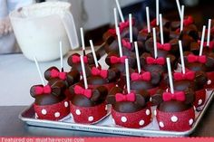 Minnie Mouse Apples - Red