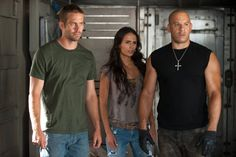 Vin Diesel, Jordana Brewster and Paul Walker in Fast Five