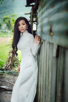 Gorgeous Women, Beautiful, Ao Dai, Us Navy, High Neck Dress, Gowns, Princess, Chic, Lady