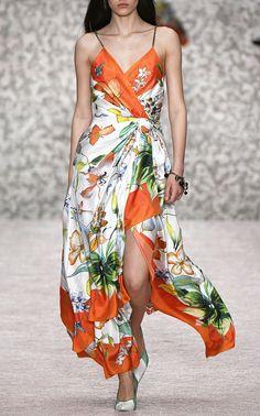 New To Sale Carolina Herrera Sleeveless Silk Wrap Dress ColorFloral €3.816€2.290