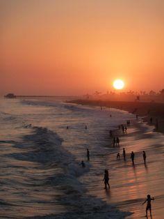 Balboa Island, CA at Sunset