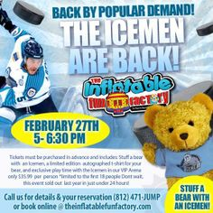 We only a few more openings left at this year's IceMen Event! Call 471-JUMP to reserve your child's spot TODAY :)