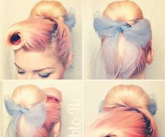 A gorgeous and detailed pin-up look with a bow accessory. Love the scarf and makeup! Get the look with great makeup from Beauty.com!