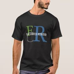 Flat-Coated Retriever Breed Monogram T-Shirt