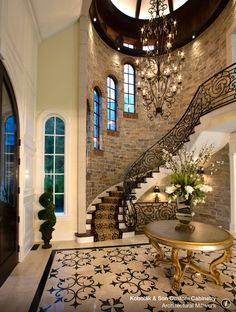 This is such a lovely entry room and stair case
