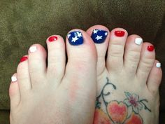 4th of July pedicure