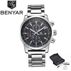 d60e92ac226e BENYAR Fashion Chronograph Sport Mens Watches