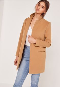 Short Tailored Wool Coat Camel   Outfits   Pinterest   Coats, Wool ...