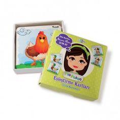 • 12-36 ay çocuklar için tasarlanmış, çiftlik  hayvanları çizimlerinden oluşmaktadır.  • İçeriği : 118mm x 118mm, kalın mukavva ve selefon kaplı 6 karakter, 12 adet zeka geliştirci oyun kartlarıdır.  • Çocukların yaşamlarının ilk beş yılı beyin, zeka gelişimi için en önemli dönemdir.  Bu oyun çocukların eşleştirme ve ilişkilendirme becerilerini geliştirerek zeka gelişimine katkı sağlar.  Akılda tutma, dikkat etme, hatırma becerilerini geliştirir.