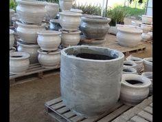 Como fazer vasos triplos de cimento - Ideal para hortas verticais (DIY) - YouTube
