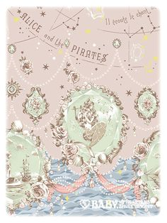 Alice and the Pirates Starry Moonlight Night Sirene print