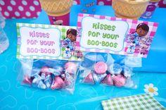 Disney Jr Doc McStuffins Birthday Party Favor Cellophane Bag Topper Label, Instant download