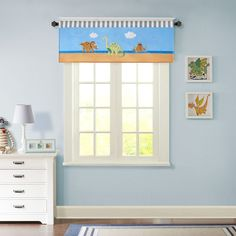 Mi Zone Kids Daring Dino Printed and Applique Valance