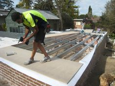 Granny Flat in Hornsby NSW- Spantec Boxspan steel floor frame- Flooring being laid. Granny Flat by Granny Flat Solutions. Sustainable Building Design, Quonset Homes, Floor Framing, Gym Room, Steel Beams, Rain Barrel, Granny Flat, Concrete Slab, Building A New Home