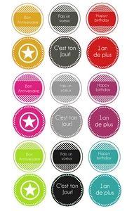 """Etiquettes à gogo: Étiquettes """"Anniversaire"""" en français !"""