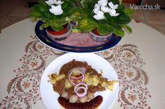 Hovädzí roštenec s kuracou pečeňou à la Šenkýřský timbál (fotorecept)