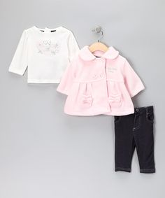 Take a look at this Pink & Blue Pants Set by Kenneth Cole & Calvin Klein on #zulily today!
